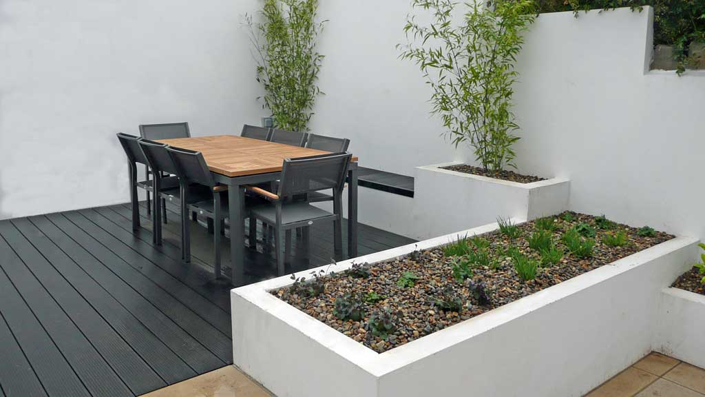 New design urban garden minimalist white chic for Urban garden design