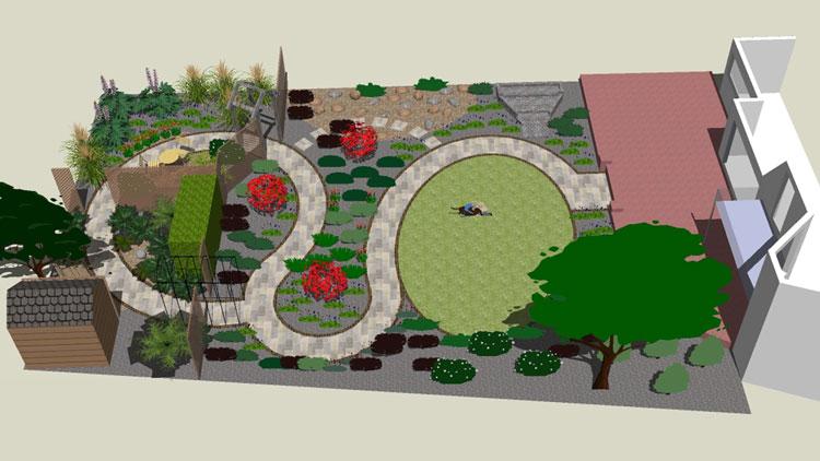 gentle journey cardiff garden - garden design | rogerstone gardens