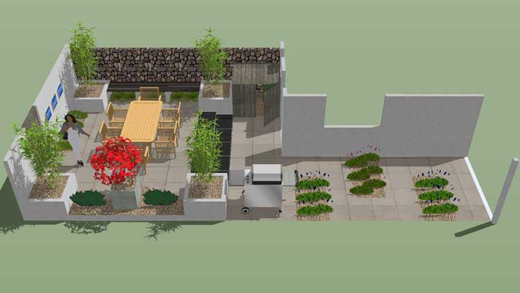 Contemporary Entertaining Garden All Square Garden