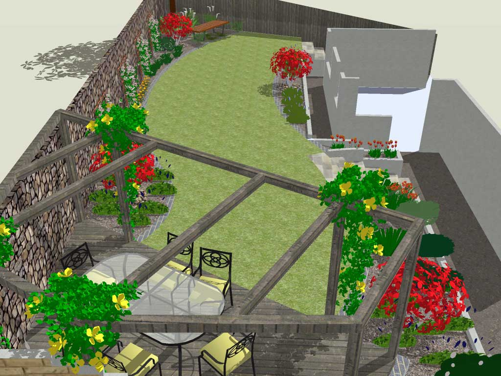 Summer rogerstone gardens cardiff garden design wales for Help me design a garden